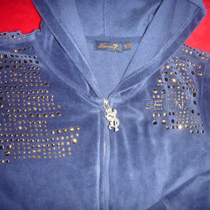 Seven 7 Junior Women Velour Embellished Hoodie